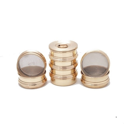 """5"""" Diameter Brass Frame Sieves with Stainless Steel Mesh"""