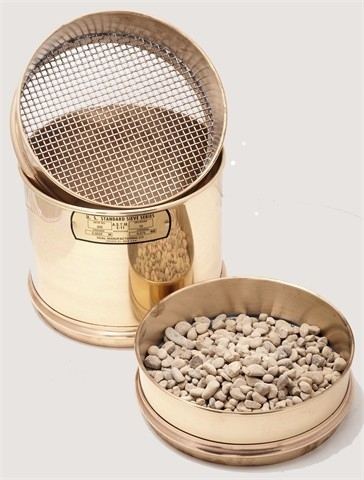 "8"" Diameter Brass Frame Sieves with Stainless Steel Mesh"