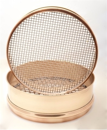 "10"" Diameter Brass Frame Sieves with Stainless Steel Mesh"