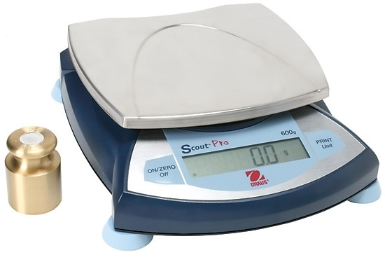 600 Grams (g) Capacity, Ohaus Scout Pro Portable Balance